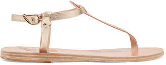 Ancient Greek Sandals Lito Metallic Leather Sandals - Gold