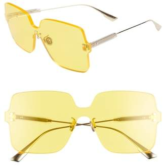 Christian Dior Quake1 147mm Square Rimless Shield Sunglasses