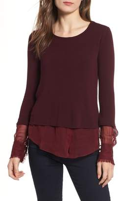 Bailey 44 Double Speak Mock Layer Top