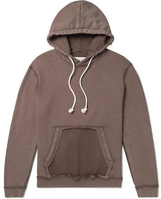 Maison Margiela Distressed Loopback Cotton-Jersey Hoodie - Men - Brown