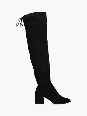 Carvela Wild Block Heel Knee High Boots, Black
