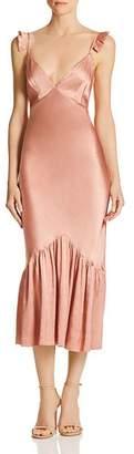 Saylor Satin Midi Slip Dress