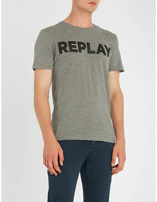 Replay Logo-print cotton-blend T-shirt