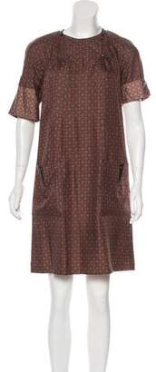 Mayle Printed Silk Dress