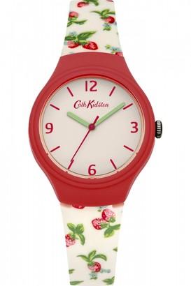 Cath Kidston Ladies Strawberries Silicone Strap Watch CKL023RW