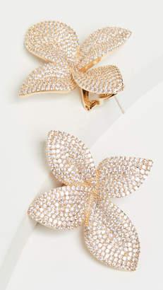 Theia Jewelry Large Plumeria Statement Earrings