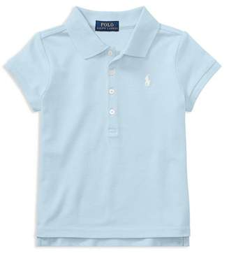 Ralph Lauren Girls' Mesh Knit Polo - Little Kid