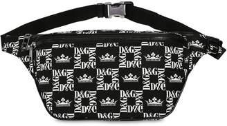Dolce & Gabbana Square Logo Nylon Belt Bag