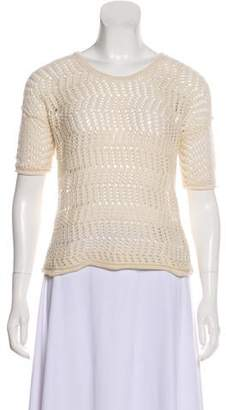 James Perse Open Knit Wool & Cashmere-Blend Sweater