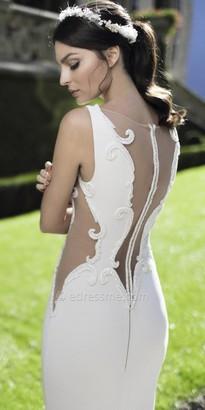 Tarik Ediz Beaded Sheer Cutout Evening Dress $1,336 thestylecure.com