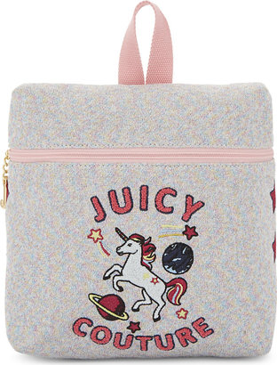 Juicy Couture Unicorn doodles metallic backpack $100 thestylecure.com