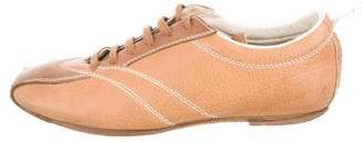 Bottega Veneta Square-Toe Low-Top Sneakers