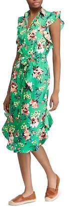 Ralph Lauren Ruffle-Trim Floral-Print Dress