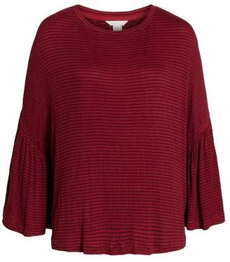 Caslon Stripe Bell Sleeve Tee (Regular & Petite)