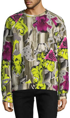 Versace Printed Crewneck Sweatshirt