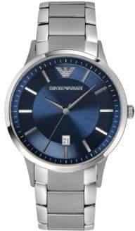 Emporio Armani Round Stainless Steel Watch