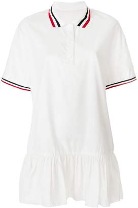 Moncler trim peplum polo dress