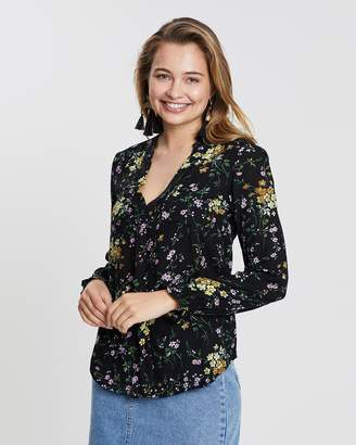Oasis Ditsy Collarless Shirt