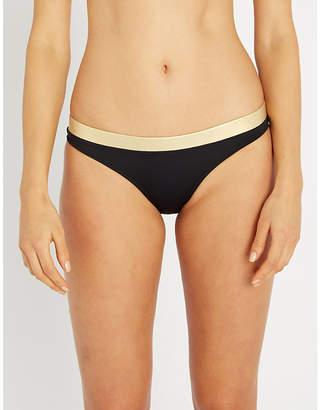Solid & Striped Madison metallic-trim low-rise high-leg bikini bottoms
