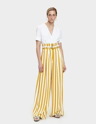 Maison Margiela Striped Pleated Pant