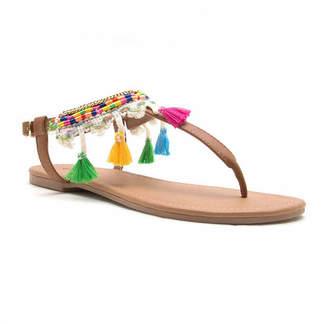 a6517c44dded2 ... Qupid Womens Flat Sandals