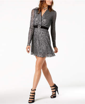 Just Cavalli Belted Faux-Wrap Dress