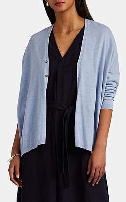 Pas De Calais Women's Fine-Gauge Mélange Cotton-Blend Oversized Cardigan - Lt. Blue
