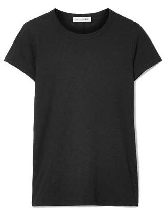 Rag & Bone The Tee Slub Pima Cotton-jersey T-shirt - Black