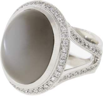 Tamara Comolli Grey Moonstone And Diamond Ring