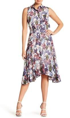 Jason Wu Grey Chiffon Handkerchief Sleeveless Dress