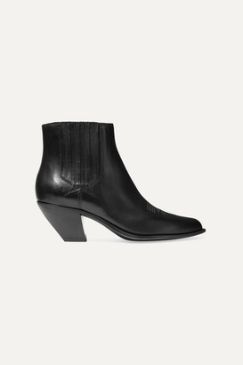 Golden Goose Sunset Leather Ankle Boots - Black