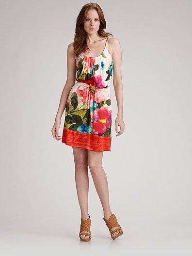 Blumarine Jersey Floral-Print Dress