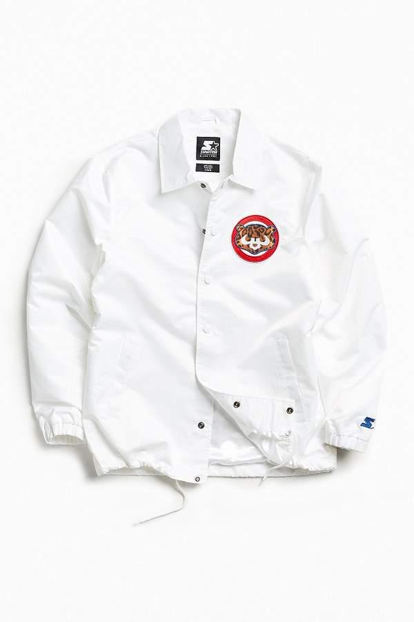 Starter Black Label + UO Chicago Cubs Cheetah Coach Jacket