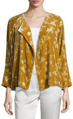 Elizabeth and James Audrey Floral Velour Open-Front Jacket, Bronze $395 thestylecure.com
