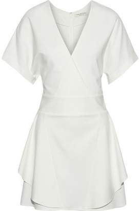 Halston Wrap-Effect Ponte Mini Dress