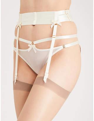 Bordelle Harness satin suspender belt