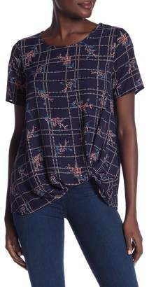 Pleione Twisted Short Sleeve Blouse