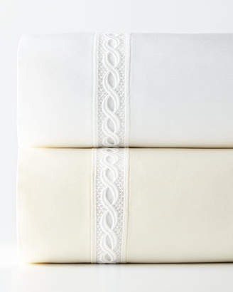 Sferra Queen 1,020 Thread Count Lace Sateen Flat Sheet