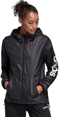 adidas Women's Essential Linear Windbreaker Jacket