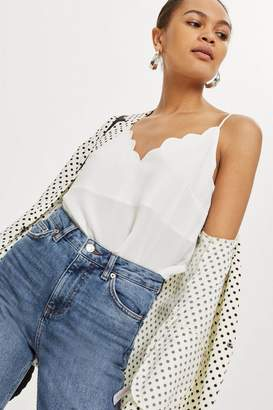 Topshop Scalloped Hem Camisole Top