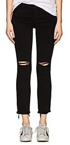 Dl 1961 Women's Mara Instasculpt Straight Ankle Jeans - Black Size 25