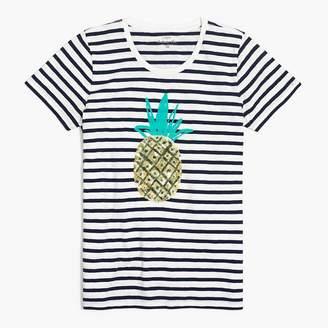 J.Crew Sequin pineapple T-shirt