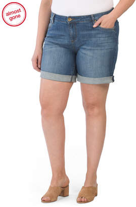 KUT from the Kloth Plus Catherine Boyfriend Roll-up Shorts