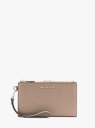 Michael Kors Adele Pebbled Leather Smartphone Wallet