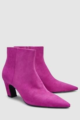 Next Womens Black Slant Heel Ankle Boots