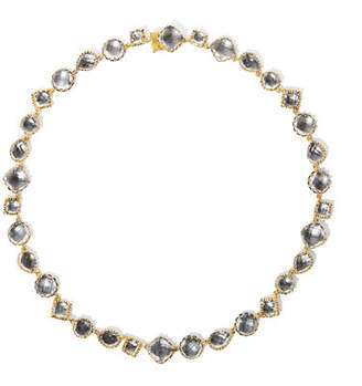 Larkspur & Hawk Small Sadie Riviere Necklace in Gray Foil