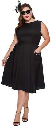 Unique Vintage Plus Size Eden Sleeveless Dress Women's Dress