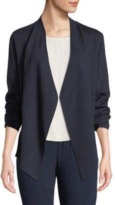 Eileen Fisher Silk-Blend Asymmetric-Hem Cardigan, Plus Size