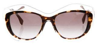 Fendi Two-Tone Geometric Sunglasses