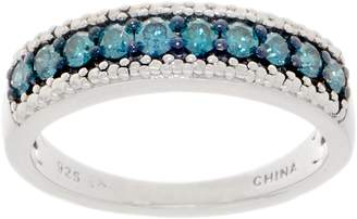 Affinity Diamond Jewelry Affinity Colored Diamond Band Ring, 2/5 cttw, Sterling Silver